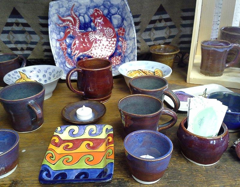 Handmade mugs and plates