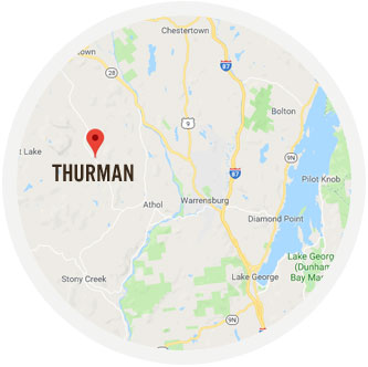 location of Thurman on google maps