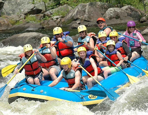 Group White river rafting