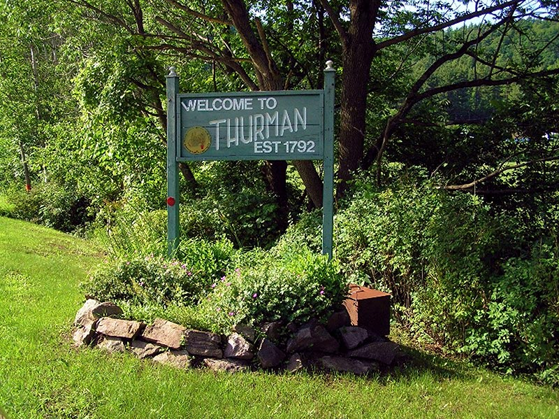 Welcome to Thurman sign